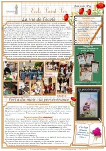 Lettre 34 - Juin 2021 - Ecole Saint-Ser page 1